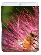 Delicate Embrace - Bee And Mimosa Duvet Cover
