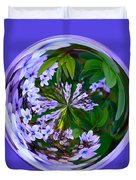 Delicate Flowers Orb Duvet Cover