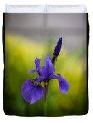 Delicate Japanese Iris Duvet Cover