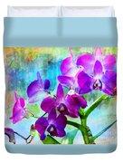 Delicate Orchids Duvet Cover