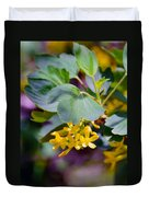 Delicate Yellow Flowers Duvet Cover