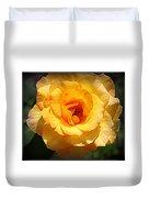 Delicate Yellow Rose Duvet Cover
