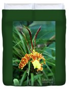 Delicate Yellow Spider Orchid Duvet Cover