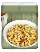 Delicious Macaroni Lunch Duvet Cover
