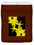 Delightful Daffodil Abstract Duvet Cover