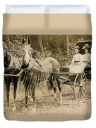 Delivering The Mail 1907 Duvet Cover