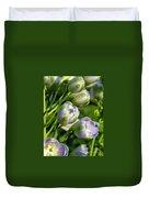 Delphinium Buds Blooming Duvet Cover