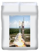Delta II Launch With Space Telescope Duvet Cover
