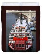 Delta Queen In Christmas Snow Duvet Cover by Tom and Pat Cory