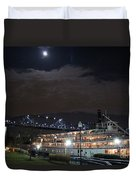 Delta Queen Under A Full Moon Duvet Cover by Kathy  White
