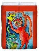 Demon Cats Reach Duvet Cover