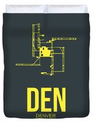 Den Denver Airport Poster 1 Duvet Cover by Naxart Studio