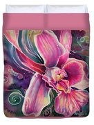 Dendrobium II Duvet Cover