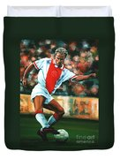 Dennis Bergkamp 2 Duvet Cover by Paul Meijering