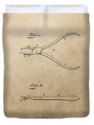 Dental Pliers Patent Design Duvet Cover