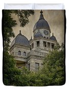 Denton County Courthouse Duvet Cover