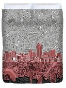 Denver Skyline Abstract 2 Duvet Cover