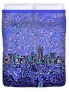 Denver Skyline Abstract 4 Duvet Cover