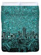 Denver Skyline Abstract 5 Duvet Cover