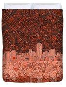 Denver Skyline Abstract 6 Duvet Cover