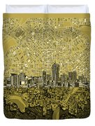 Denver Skyline Abstract 8 Duvet Cover