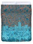 Denver Skyline Abstract Duvet Cover