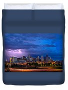 Denver Skyline Duvet Cover by John K Sampson