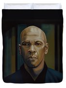 Denzel Washington In The Equalizer Painting Duvet Cover