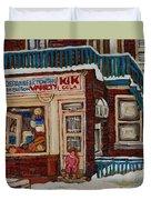 Depanneur Kik Cola Montreal Duvet Cover