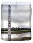 Depth Measuring Stick Lake Lagunita Stanford University Duvet Cover
