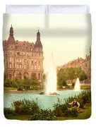 Der Deutsche Ring-cologne-the Rhine-germany -  Between 1890 And  Duvet Cover