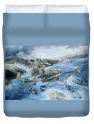 Derailing The Tokyo Express Duvet Cover by Randy Green