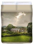 Derbyshire Cottages Duvet Cover by Amanda Elwell