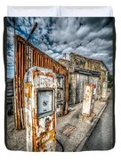 Derelict Gas Station Duvet Cover by Adrian Evans