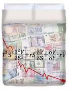 Derivatives Financial Debacle - Black Scholes Equation Duvet Cover