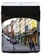 Derry Life - Irish Art By Charlie Brock Duvet Cover
