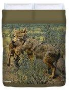 Desert Coyote Duvet Cover