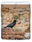Jet Black Desert Dweller Duvet Cover