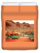 Desert Hiking Among The Sandstones Duvet Cover
