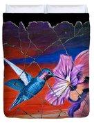 Desert Hummingbird Duvet Cover