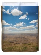 Desert Landscape By The Tannur Dam Duvet Cover