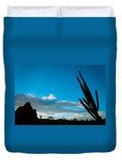 Desert Landscape Silhouette Duvet Cover