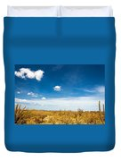 Desert Landscape With Deep Blue Sky Duvet Cover