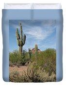 Desert Landscape With Saguaro Duvet Cover