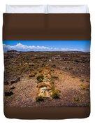 Desert Log Duvet Cover
