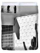 Desert Modern Bw Palm Springs Duvet Cover