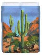 Desert Morning Saguaro Duvet Cover