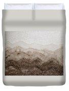 Desert Mountain Mist Original Painting Duvet Cover
