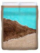 Desert Mountains Original Painting Duvet Cover
