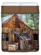 Desert Outback Farm Building Duvet Cover